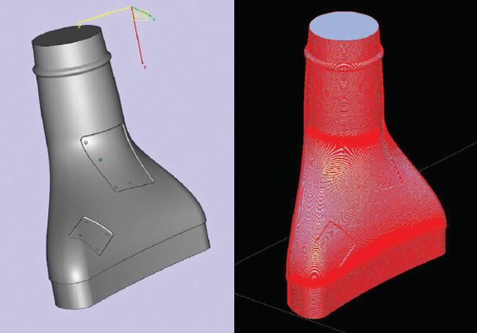 FDM topiva jezgra je jednostavno kreirana iz CAD modela kompozitnog dijela i pripremljena za izradu korištenjem Stratasys Insight softvera